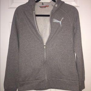 Puma zip-up sweatshirt